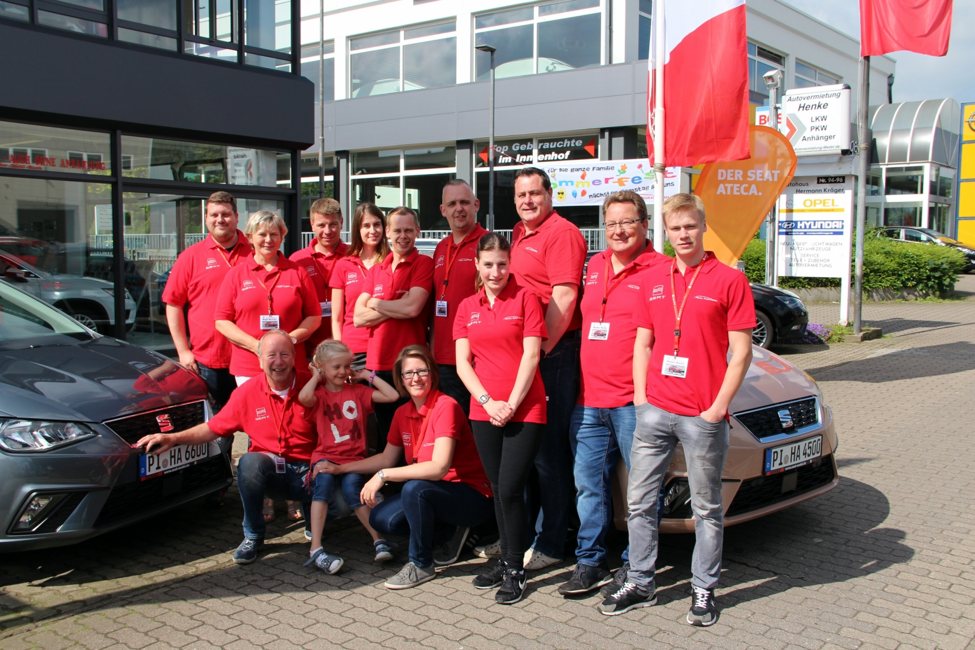 Seat Wedel Hamburg - Rückblick Sommerfest 2017 - Team