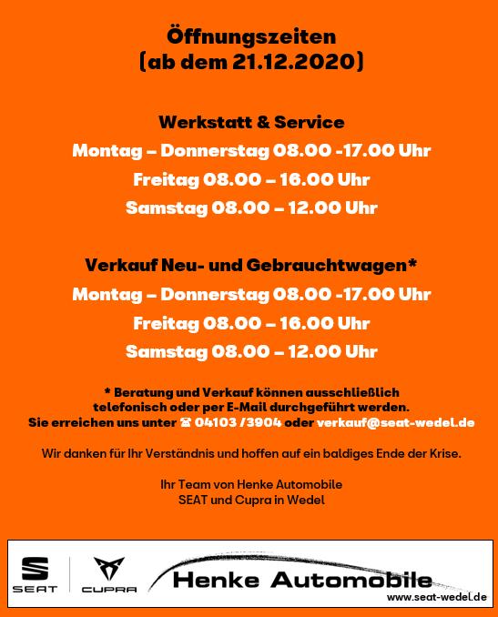 Henke-Seat-Öffnungszeiten